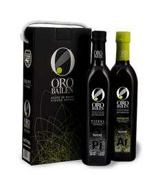 Ekstra jomfru olivenolie Oro Bailen.Estuche 2 botellas 750 ml.